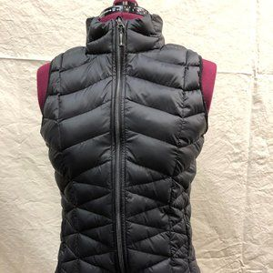 Tangerine Black Down Vest